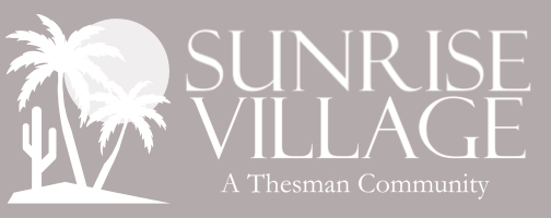 Sunrise Village A Thesman Community Logo